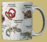Reptiles of the World Ceramic Mug - Back