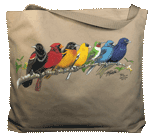 Songbird Spectrum Canvas Tote - Front