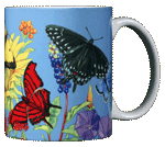 Butterfly Spectrum Ceramic Mug - Back