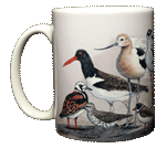 Shorebirds Ceramic Mug - Front