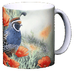 California Quail Ceramic Mug - Back