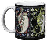 Cosmic Gecko Ceramic Mug - Front