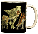 Dino Heads & Tails Ceramic Mug - Back
