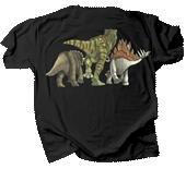 Dino Heads & Tails Adult T-shirt - Back
