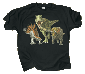 Dino Heads & Tails Adult T-shirt - Front
