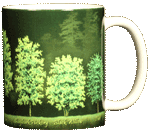 Trees Ceramic Mug - Back