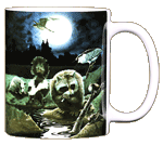 Nightlife Ceramic Mug - Back