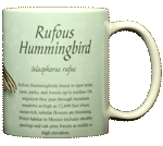 Rufus Hummingbird Ceramic Mug - Back