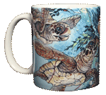 Sea Turtle Splash Ceramic Mug