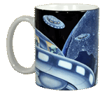 UFO Ceramic Mug - Front