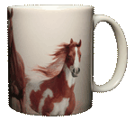 Horses Heads & Tails Ceramic Mug - Back