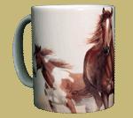 Horses Heads & Tails Ceramic Mug