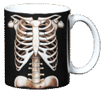 Skeleton Ceramic Mug - Back