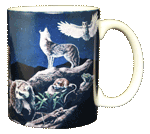 Western Nightlife Ceramic Mug - Back