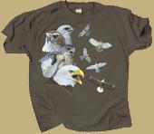 Soaring Raptors Adult T-shirt