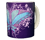 Celtic Butterfly Ceramic Mug - Back