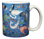 Circle of Life Ceramic Mug - Back