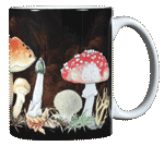 Mushrooms Ceramic Mug - Back