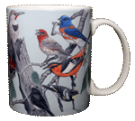 Western Songbirds Ceramic Mug - Back