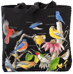 Backyard Birds Canvas Tote - Back
