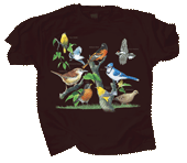 Backyard Birds Adult T-shirt - Front