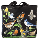 Backyard Birds Canvas Tote - Front