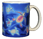 Sea Turtle Glow Ceramic Mug - Back