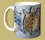 Turtle Circle Ceramic Mug