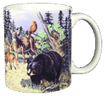 Woodland Critters Ceramic Mug - Back