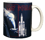 My Space Ceramic Mug - Back