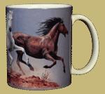 Horse Trio Ceramic Mug - Back test8