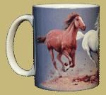 Horse Trio Ceramic Mug - Front