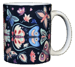 Butterfly Circle Ceramic Mug - Back