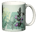 Herb Sampler Ceramic Mug - Back