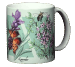 Strawberry, Lavender, Thyme Ceramic Mug - Back