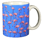 Flamingo Wrap Ceramic Mug - Back