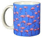 Flamingo Wrap Ceramic Mug - Front