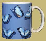 Morpho Glitter Ceramic Mug - Back