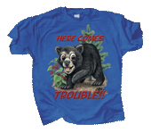 Bear Trouble Youth T-shirt - Front