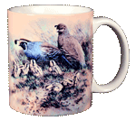 Quail Family Ceramic Mug - Back
