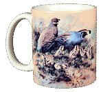Quail Family Ceramic Mug