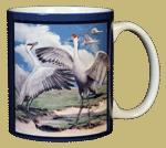 Sandhill Cranes Ceramic Mug - Back