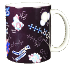 Molecules Ceramic Mug - Back