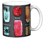Gem Stones Ceramic Mug - Back