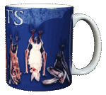 Night Flyers Bats Ceramic Mug - Back