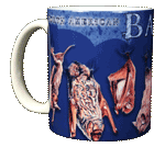 Night Flyers Bats Ceramic Mug - Front