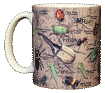 Insects, Etc. Ceramic Mug - Front
