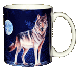 Lone Wolf Ceramic Mug - Back test8