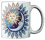 Sun Power Moon Glow Ceramic Mug - Back