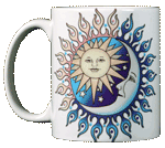 Sun Power Moon Glow Ceramic Mug - Front